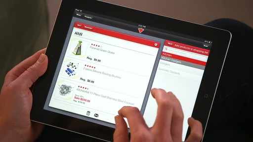 Canadian Tire iPad app: Sales Alert Feature - image 7 from the video