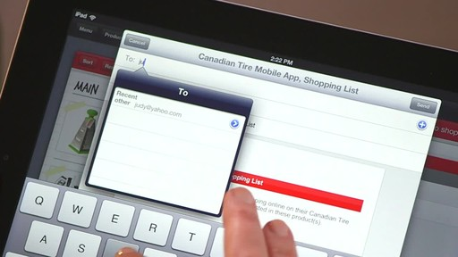 Canadian Tire iPad app: Sales Alert Feature - image 8 from the video