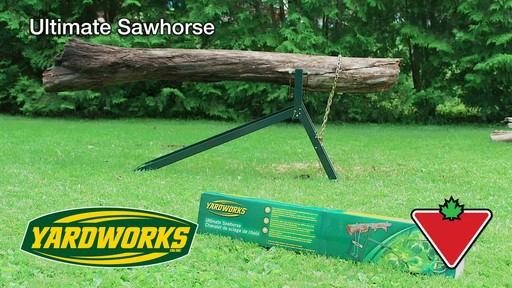 Yardworks Ultimate Sawhorse - image 1 from the video