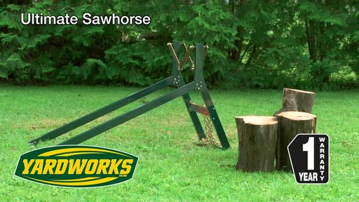 Yardworks Ultimate Sawhorse - image 10 from the video