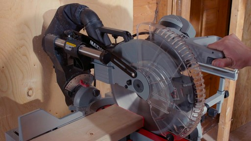 MAXIMUM Dual Bevel Sliding Mitre Saw, 12-in - image 10 from the video