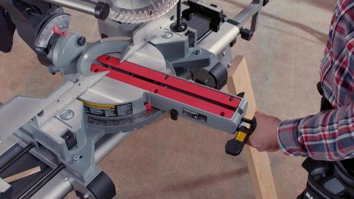 MAXIMUM Dual Bevel Sliding Mitre Saw, 12-in - image 3 from the video