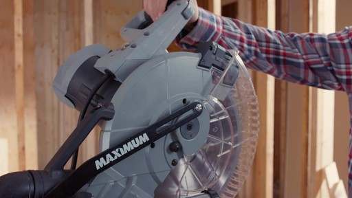 MAXIMUM Dual Bevel Sliding Mitre Saw, 12-in - image 4 from the video