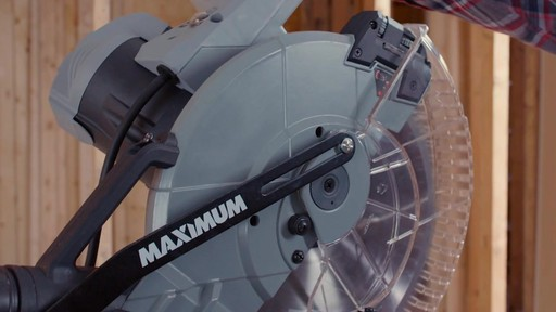 MAXIMUM Dual Bevel Sliding Mitre Saw, 12-in - image 5 from the video