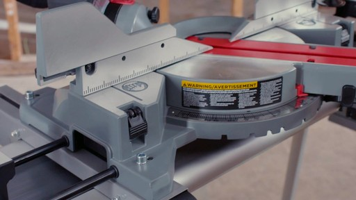 MAXIMUM Dual Bevel Sliding Mitre Saw, 12-in - image 6 from the video