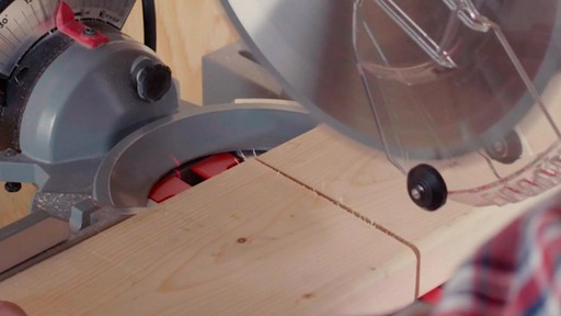 MAXIMUM Dual Bevel Sliding Mitre Saw, 12-in - image 7 from the video