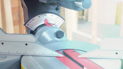 MAXIMUM Dual Bevel Sliding Mitre Saw, 12-in - image 9 from the video
