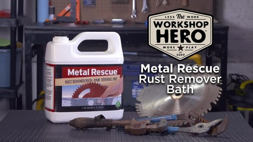 Workshop Hero Metal Rescue Rust Remover Bath - image 10 from the video