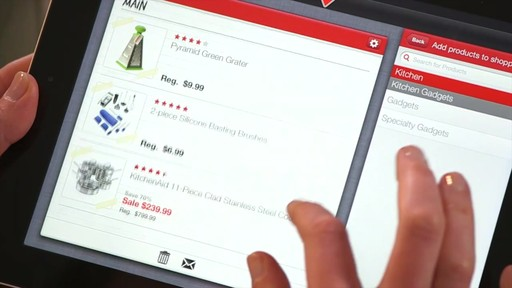 The Canadian Tire iPad app: Tips and Features - image 5 from the video