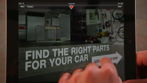 The Canadian Tire iPad app: Tips and Features - image 6 from the video