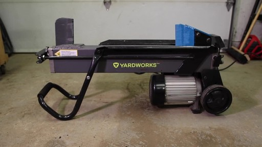 Yardworks 5-Ton Duo Cut Electric Log Splitter with pedal- Francis' Testimonial - image 1 from the video