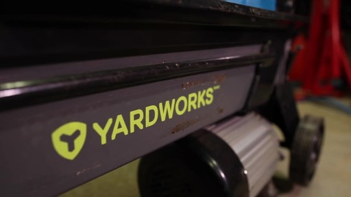 Yardworks 5-Ton Duo Cut Electric Log Splitter with pedal- Francis' Testimonial - image 8 from the video