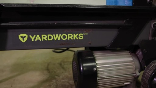 Yardworks 5-Ton Duo Cut Electric Log Splitter with pedal- Francis' Testimonial - image 9 from the video