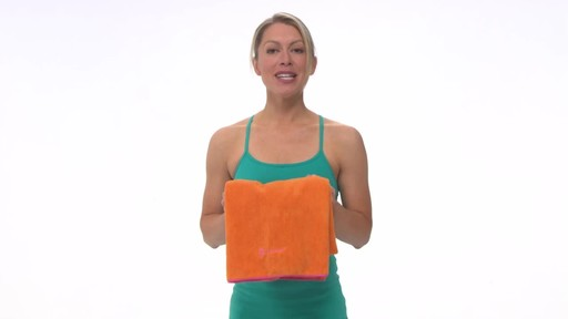 Gaiam Thirsty Yoga Mat Towel - image 10 from the video