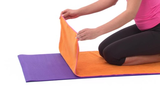 Gaiam Thirsty Yoga Mat Towel - image 2 from the video