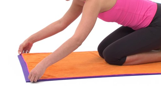 Gaiam Thirsty Yoga Mat Towel - image 3 from the video