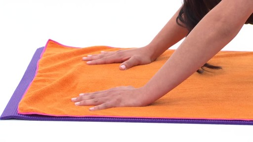 Gaiam Thirsty Yoga Mat Towel - image 4 from the video