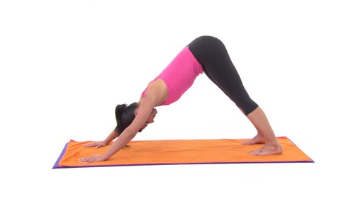 Gaiam Thirsty Yoga Mat Towel - image 8 from the video