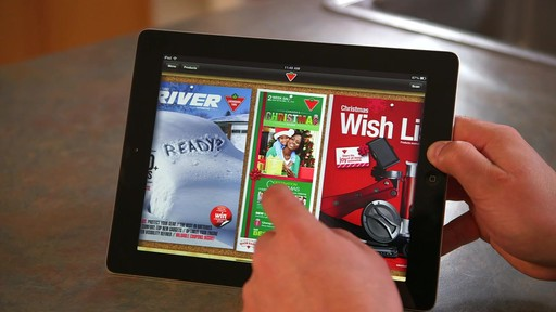 Canadian Tire iPad app: Flyer Preview Feature - image 2 from the video