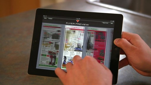 Canadian Tire iPad app: Flyer Preview Feature - image 6 from the video