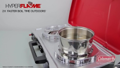 Coleman 2-Hyper Flame Camp Stove & Grill - image 1 from the video