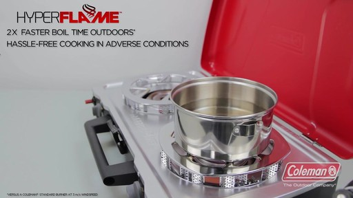 Coleman 2-Hyper Flame Camp Stove & Grill - image 8 from the video