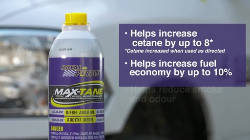 Royal Purple Max-Tane™ Diesel Fuel Injection Cleaner & Cetane Booster - image 7 from the video