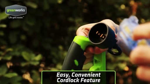Greenworks 4A Electric Hedge Trimmer - image 1 from the video