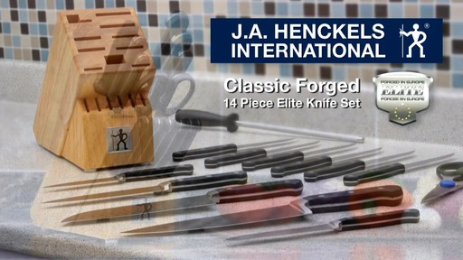 Henckels Classic Forged 14 piece Elite knife set - image 10 from the video