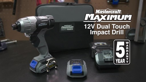 Mastercraft Maximum 12V Dual Touch Impact Drill - image 10 from the video