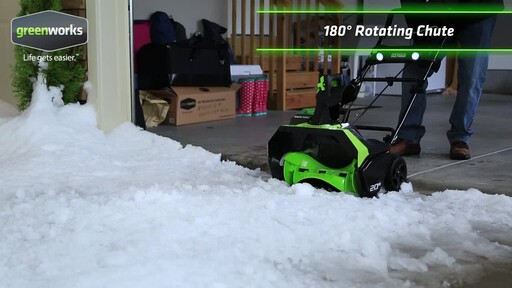 Greenworks 40V Brushless Snowthrower - image 4 from the video