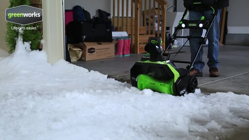 Greenworks 40V Brushless Snowthrower - image 5 from the video