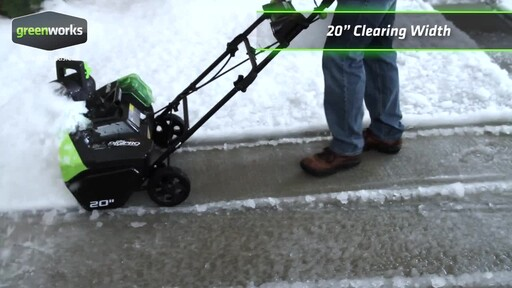Greenworks 40V Brushless Snowthrower - image 6 from the video