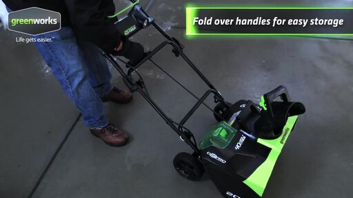 Greenworks 40V Brushless Snowthrower - image 7 from the video