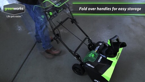 Greenworks 40V Brushless Snowthrower - image 8 from the video