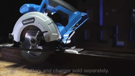 Mastercraft 20V Max Lithium-Ion Cordless Circular Saw - image 4 from the video