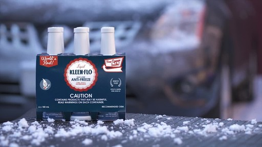 Kleen-Flo Premium Gas-Line Anti-Freeze, 6-pk - image 9 from the video