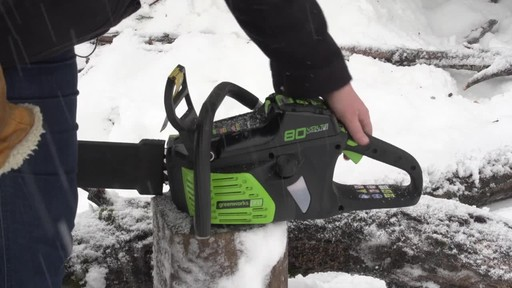 Greenworks 80V Cordless Chainsaw - Arlene's Testimonial - image 4 from the video