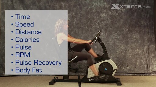 The Xterra XT451SGR Self Generating Recumbent Bike - image 7 from the video