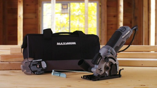 MAXIMUM Heavy-Duty Compact Circular Saw, 3-3/8-in - image 9 from the video