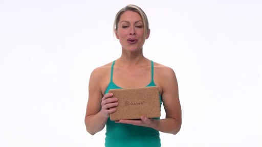Gaiam Eco Cork Yoga Brick - image 1 from the video