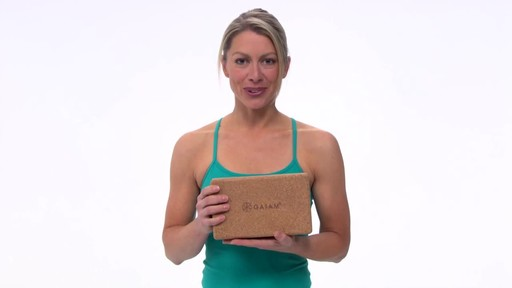 Gaiam Eco Cork Yoga Brick - image 2 from the video