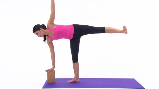 Gaiam Eco Cork Yoga Brick - image 5 from the video