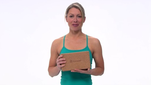 Gaiam Eco Cork Yoga Brick - image 9 from the video