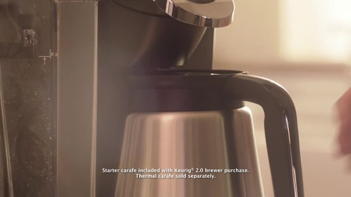Keurig 2.0- Brewing a Carafe - image 2 from the video