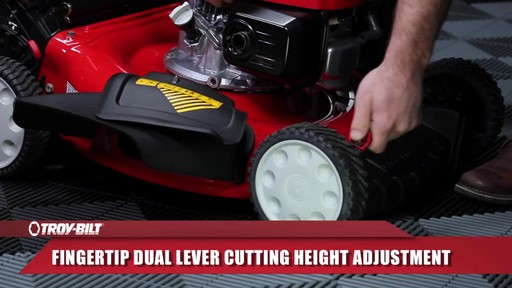 Troy-Bilt Push Lawn Mower, 160 CC - image 5 from the video