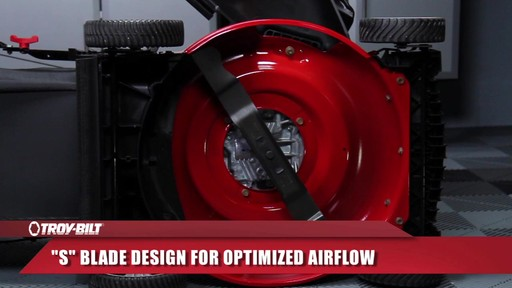 Troy-Bilt Push Lawn Mower, 160 CC - image 6 from the video