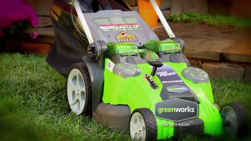 GreenWorks TwinForce 40V 20-in Lithium Cordless Mower - image 1 from the video