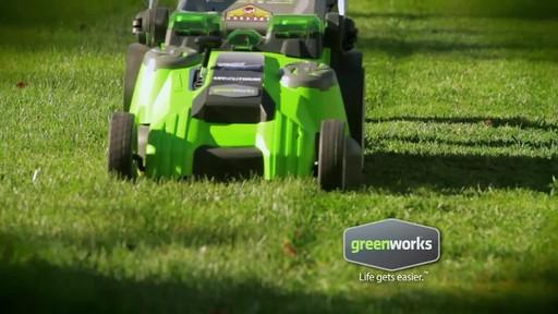 GreenWorks TwinForce 40V 20-in Lithium Cordless Mower - image 2 from the video