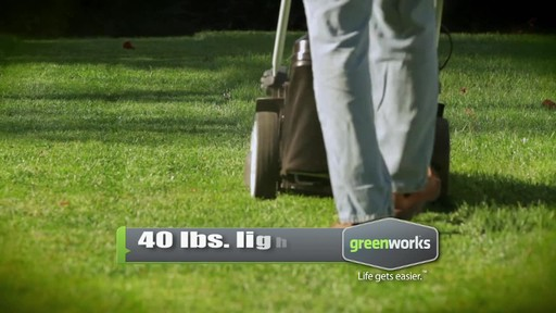 GreenWorks TwinForce 40V 20-in Lithium Cordless Mower - image 3 from the video